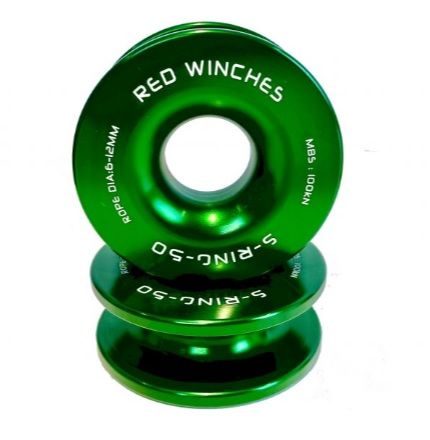 red winches snatch ring umlenkrolle 5t